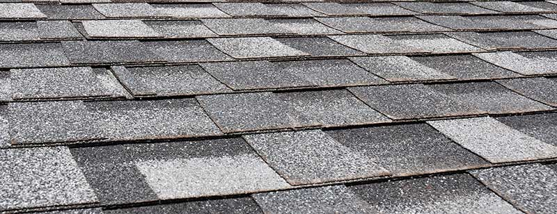 Asphalt Roof Shingles with Damage