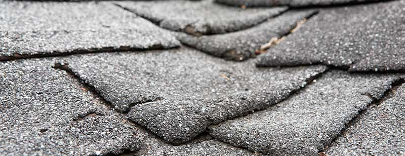Curling and Wrapping Roof Shingles