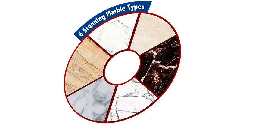 6 Stunning Marble Types