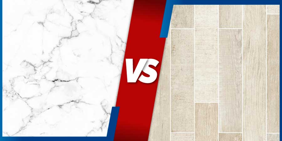 Marble vs Porcelain Tiles